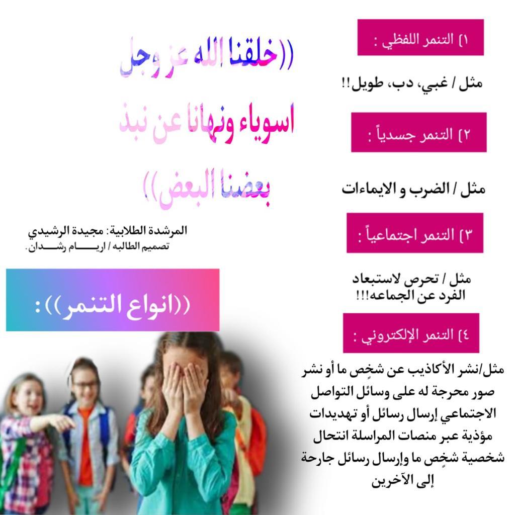 تعليم حائل يختتم فعاليات أسبوع التعامل مع التنمر الإلكتروني صحيفة تعليم حائل التربوية